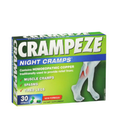 Crampeze Night Cramps 30 Capsules