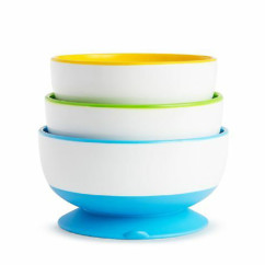 Munchkin Stay-Put Suction Bowls x3