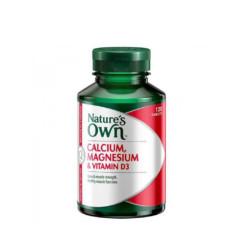 Nature's Own Calcium Magnesium & Vitamin D3 120 Tablets