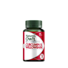 Nature's Own Curcumin & Willowbark 30 Tablets