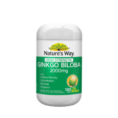 Nature's Way Ginkgo Biloba 2000mg 100 Tablets