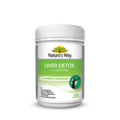 Nature's Way Liver Detox With Lecithin 120 Tablets
