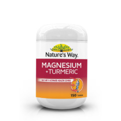 Nature's Way Magnesium + Tumeric 150 Tablets