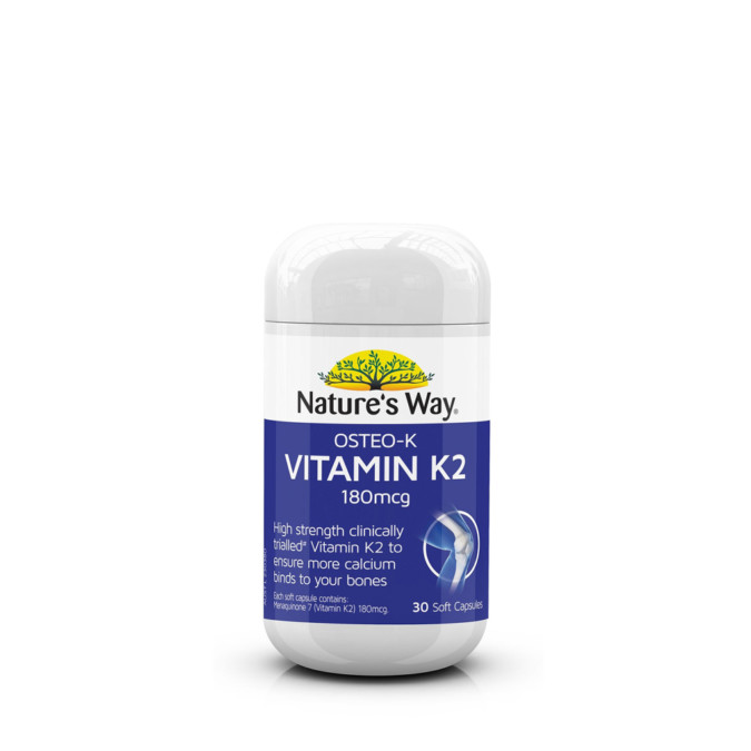 Nature's Way Osteo-K Vitamin K2 180mcg 30 Soft Capsules