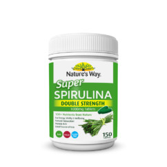 Nature's Way Super Spirulina Double Strength 1000mg 150 Tablets