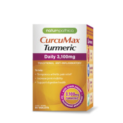 Naturopathica CurcuMax Turmeric Daily 3100mg 80 Tablets