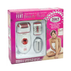 Neat Feat Beauty Buzz 3 In 1 Callus Remover