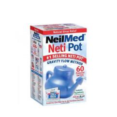 NeilMed NasaFlo Neti Pot + 60 sachets